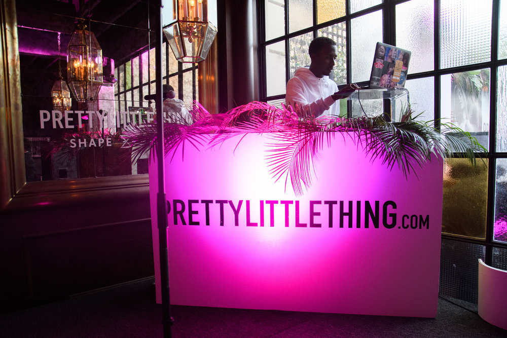 PrettyLittleThing New PLT Shape Collection with Stassie Celebrity Launch Party DJ Casanova and custom pink DJ booth.jpg