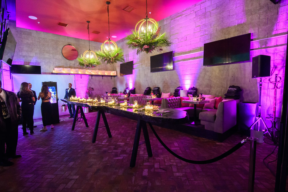 PrettyLittleThing New PLT Shape Collection with Stassie Celebrity Launch Party room at The Phoenix LA with pink lighting.jpg