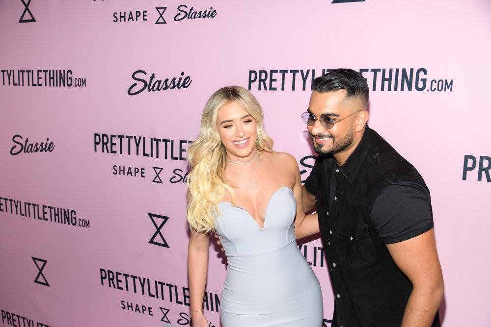 PrettyLittleThing New PLT Shape Collection with Stassie Celebrity Launch Party Anastais Karanikolaou and founder Uman Kamani.jpg