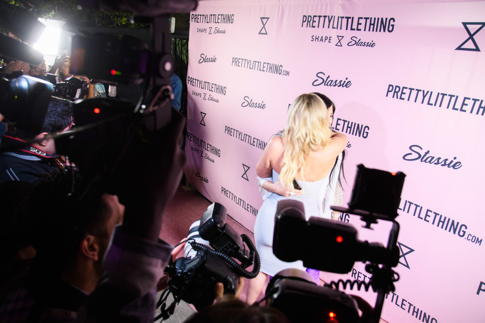 PrettyLittleThing New PLT Shape Collection with Stassie Celebrity Launch Party Stassiebaby meets Kylie Jenner on the carpet.jpg
