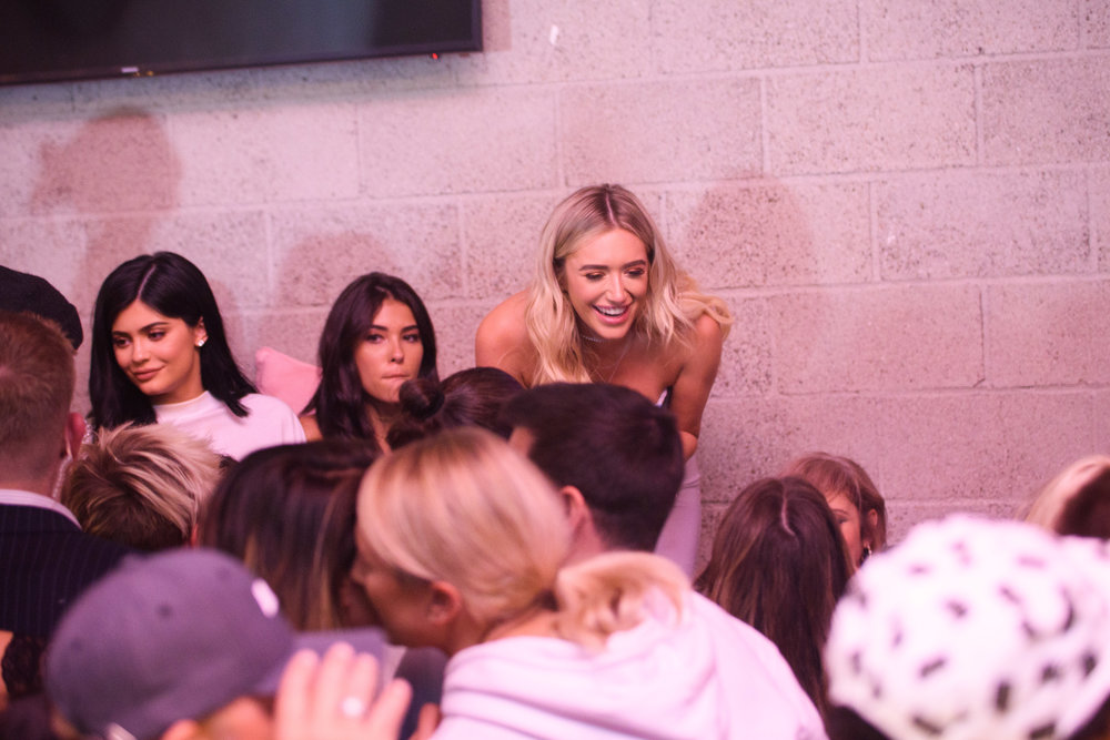 PrettyLittleThing New PLT Shape Collection with Stassie Celebrity Launch Party Stassiebaby having fun with the crowd and Kylie Jenner.jpg