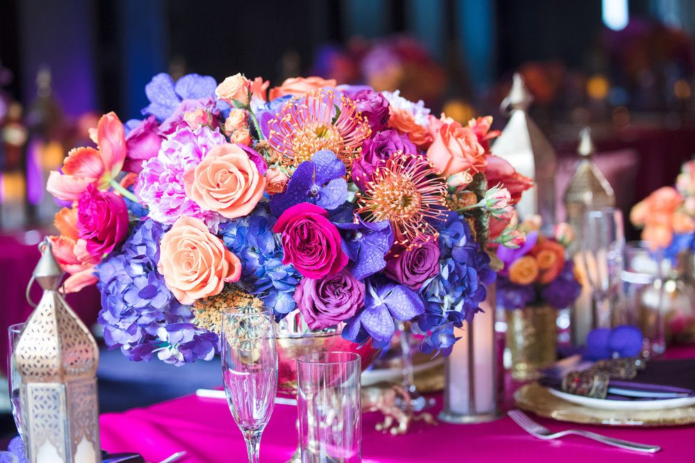 Moroccan Inspired Baby Shower Party the most gorgeous rich florals decorated each table.jpg