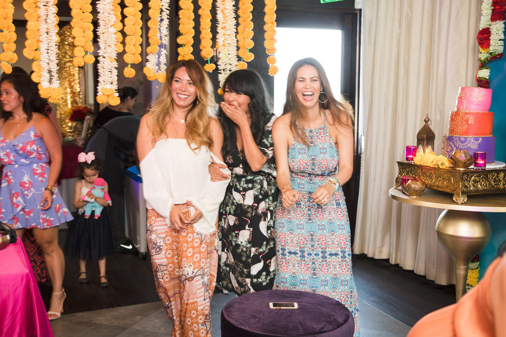 Moroccan Inspired Baby Shower Party guests waiting to catch the baby.jpg