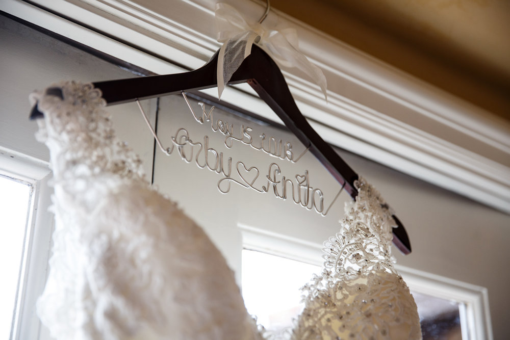 Elegant Pasadena Wedding to Make You Swoon custom hanger.jpg