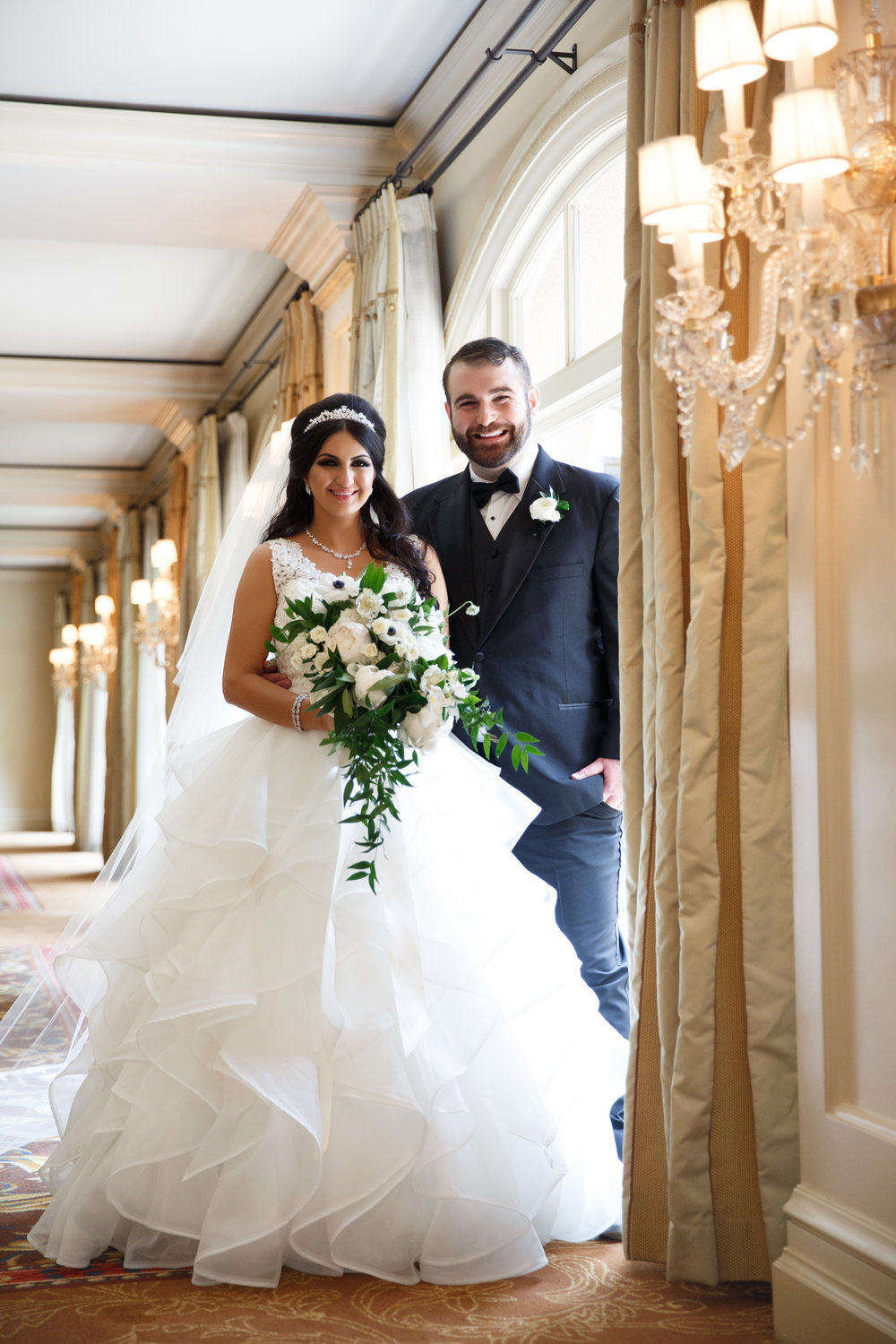 Elegant Pasadena Wedding to Make You Swoon bride and groom at the langham.jpg