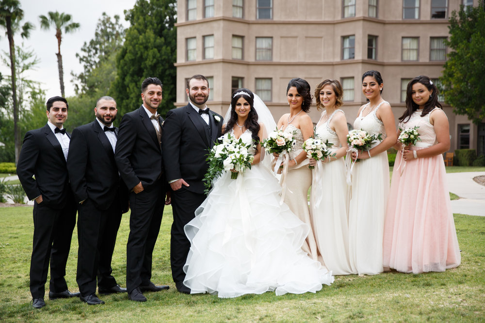 Elegant Pasadena Wedding to Make You Swoon wedding party at langham.jpg