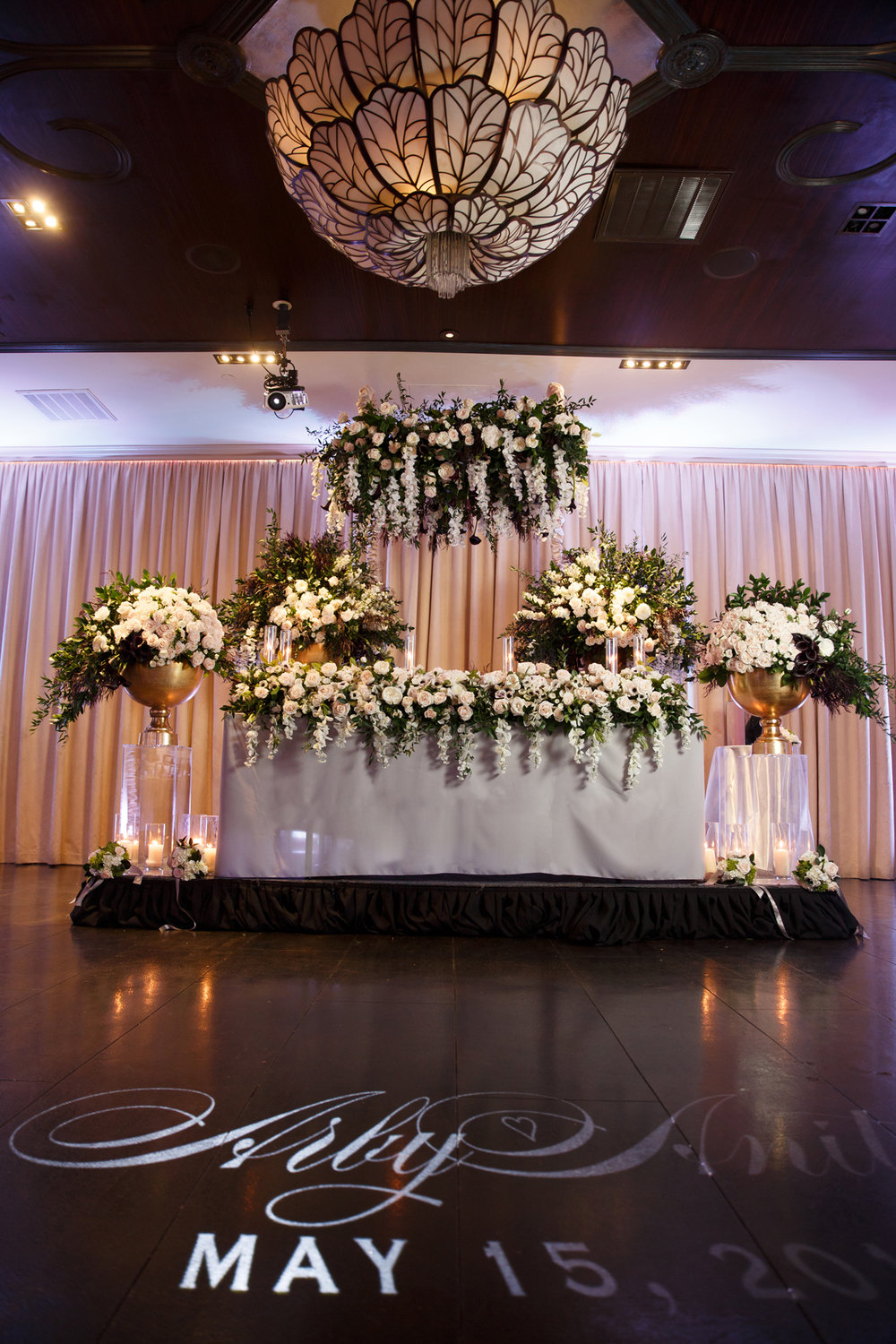 Elegant Pasadena Wedding to Make You Swoon sweetheart table.jpg