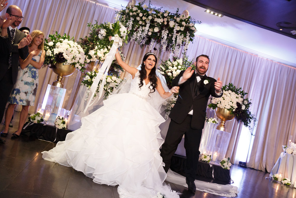 Elegant Pasadena Wedding to Make You Swoon bride and groom at reception.jpg