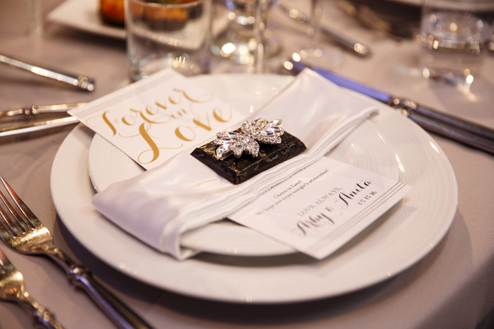 Elegant Pasadena Wedding to Make You Swoon place setting.jpg