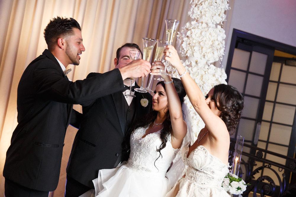 Elegant Pasadena Wedding to Make You Swoon champagne toast.jpg