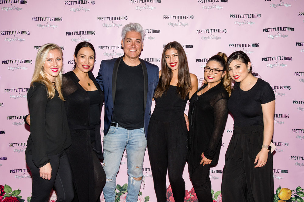 PrettyLittleThing PLT X Olivia Culpo Collection  Celebrity Launch Party Loriann and Herick with team.jpg