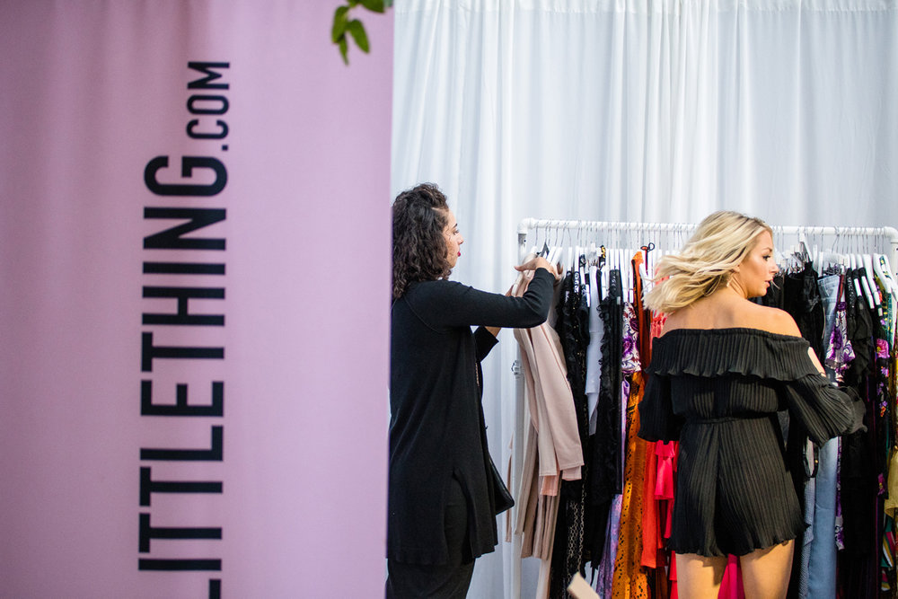 PrettyLittleThing PLT X Olivia Culpo Collection  Celebrity Launch Party shopping area.jpg