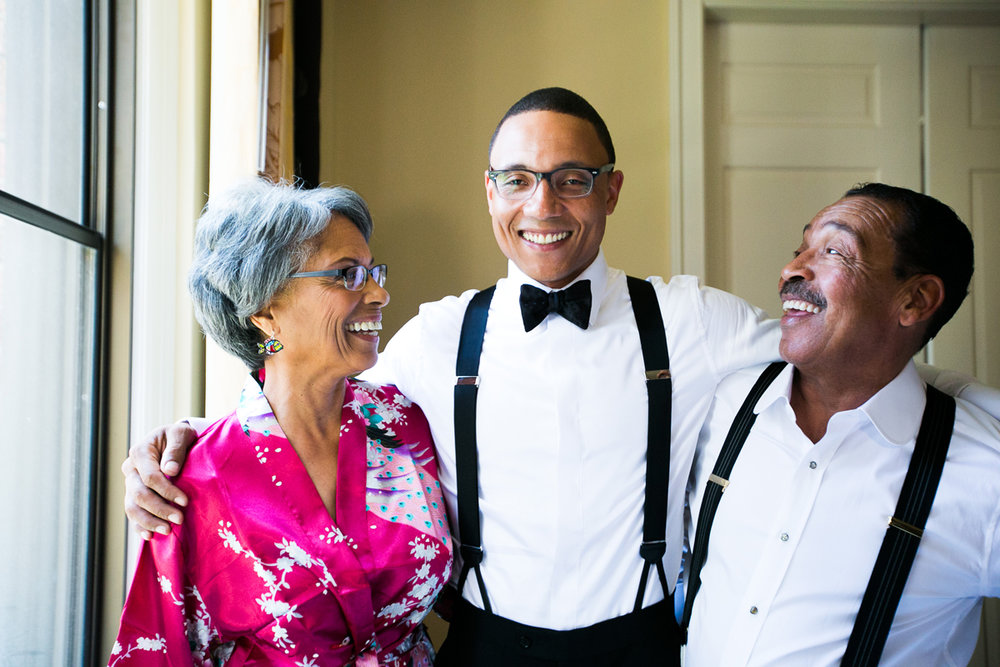 Dreamy Romantic Wedding at Historic Los Angeles Ebell Club groom and his mother and father herb wesson.jpg