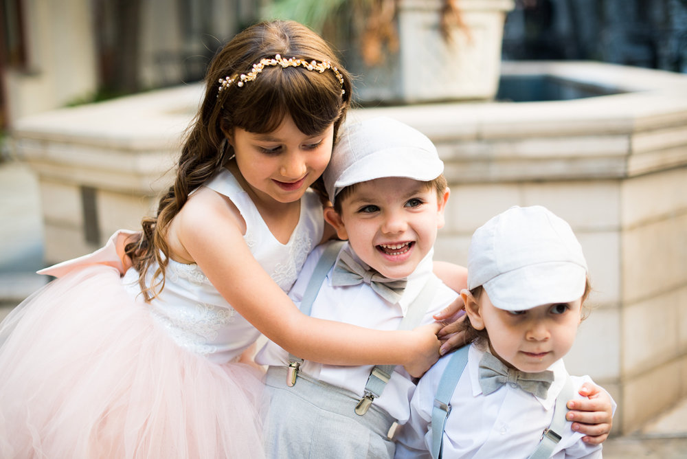 Dreamy Romantic Wedding at Historic Los Angeles Ebell Club flower girl and ringbearers.jpg