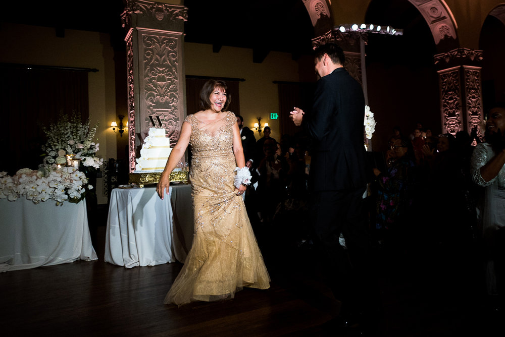Dreamy Romantic Wedding at Historic Los Angeles Ebell Club brides parents dancing.jpg