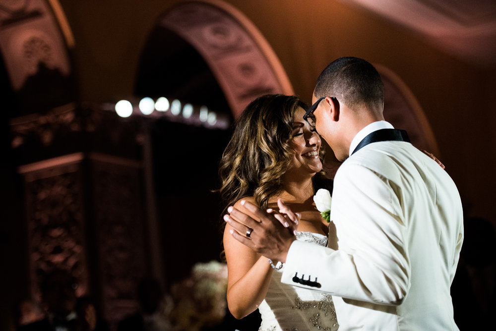 Dreamy Romantic Wedding at Historic Los Angeles Ebell Club bride and groom first dance.jpg