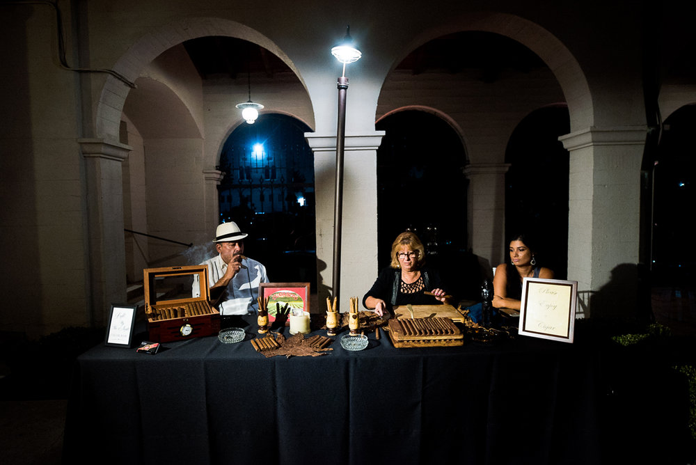 Dreamy Romantic Wedding at Historic Los Angeles Ebell Club cigar station for guests.jpg