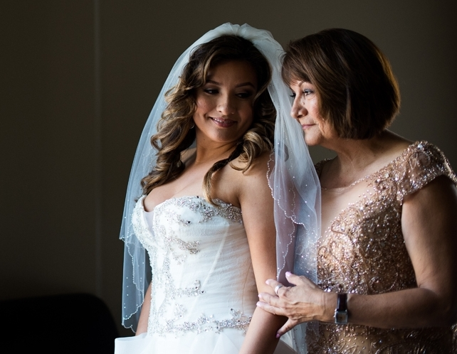 Dreamy Romantic Wedding at Historic Los Angeles Ebell Club bride and mother getting ready.jpg