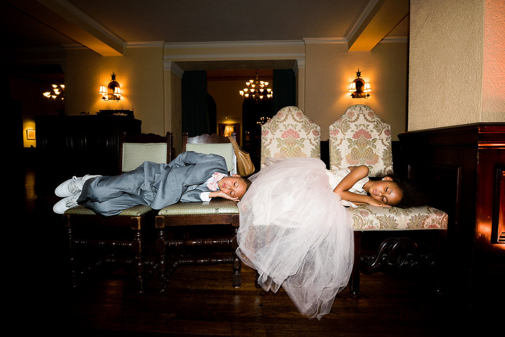 Dreamy Romantic Wedding at Historic Los Angeles Ebell Club sleepy little guests.jpg