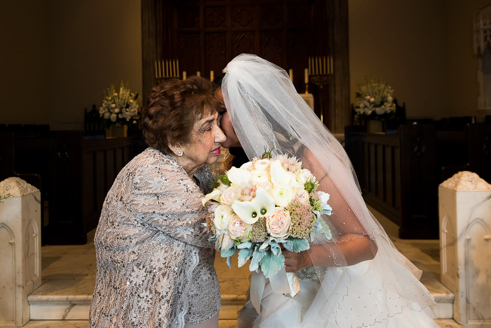 Dreamy Romantic Wedding at Historic Los Angeles Ebell Club bride with grandmother.jpg