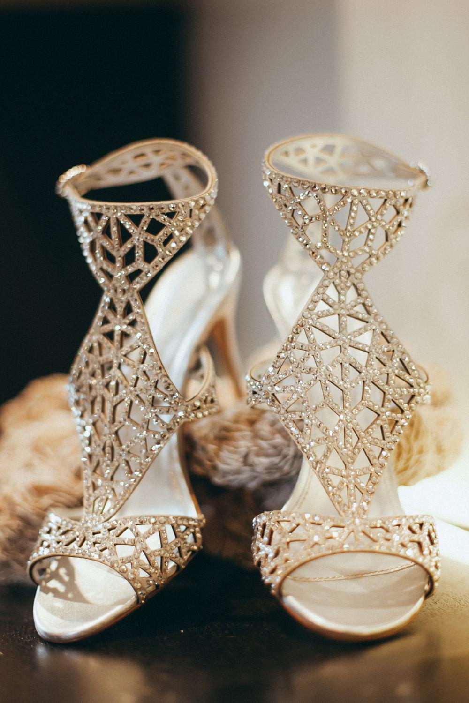 Breathtaking Contemporary Jewel Toned Fall Posh Wedding beautiful bridal heels.jpg