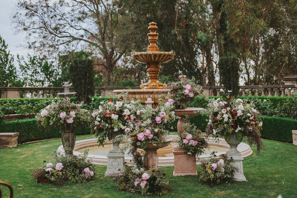 Breathtaking Contemporary Jewel Toned Fall Posh Wedding ceremony space greystone mansion.jpg