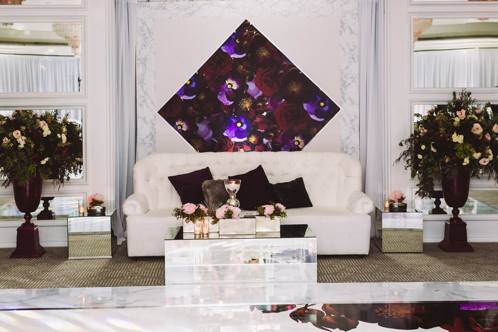 Breathtaking Contemporary Jewel Toned Fall Posh Wedding london west seating area reception.jpg