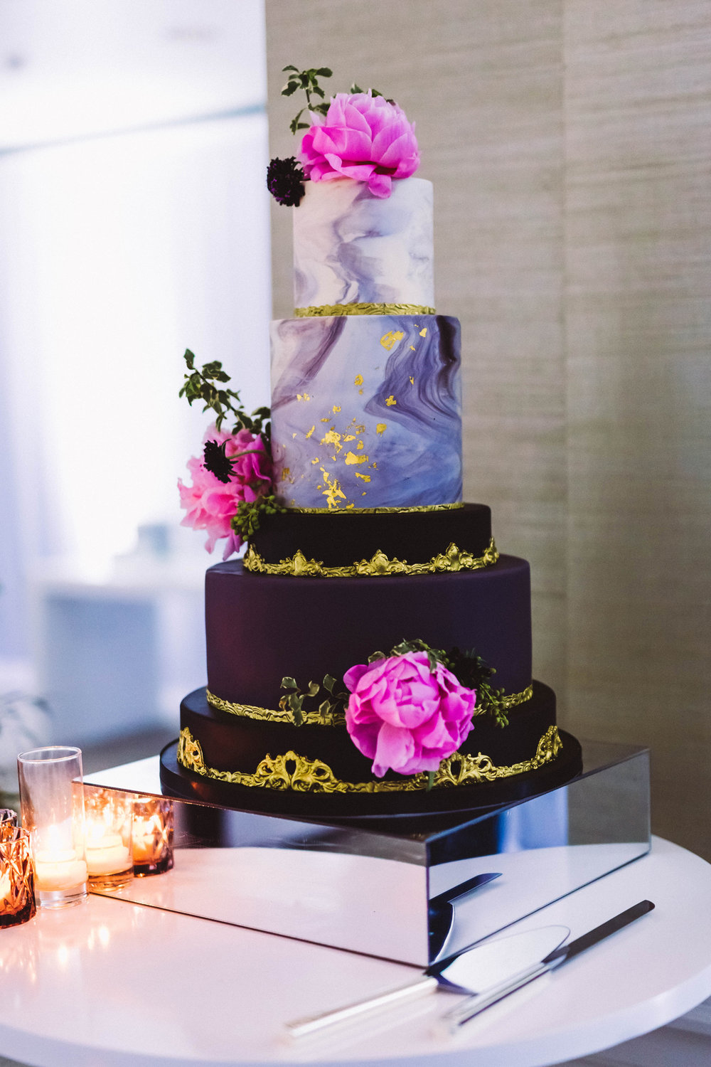 Breathtaking Contemporary Jewel Toned Fall Posh Wedding gorgeous cake.jpg