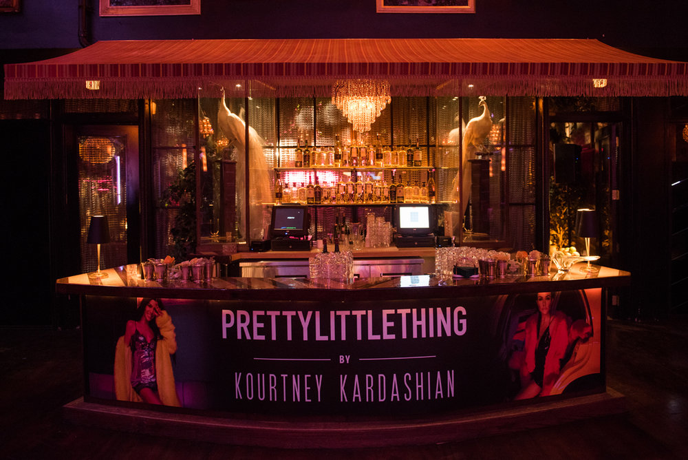 PrettyLittleThing PLT X Kourtney Kardashian Collection Celebrity Launch Party main bar.jpg