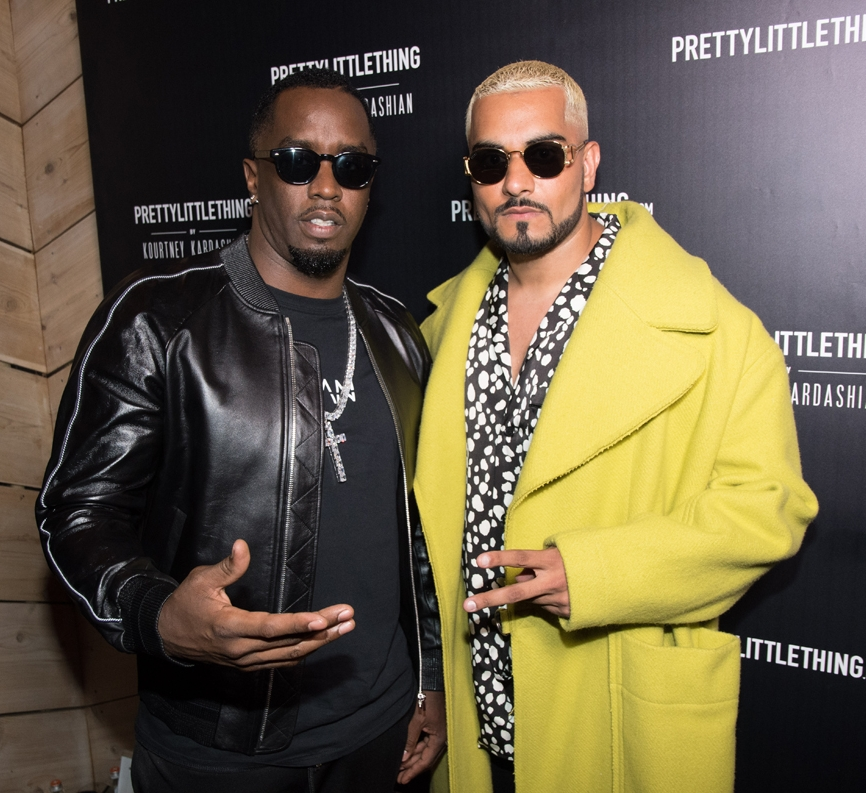 PrettyLittleThing PLT X Kourtney Kardashian Collection Celebrity Launch Party P Diddy and Umar Kamani.jpg