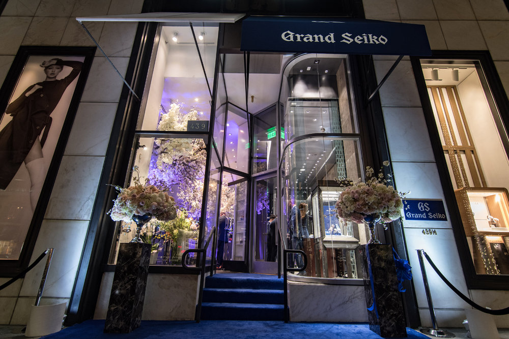 Grand Seiko Boutique Grand Affair Beverly Hills Store Opening in front of the store.jpg