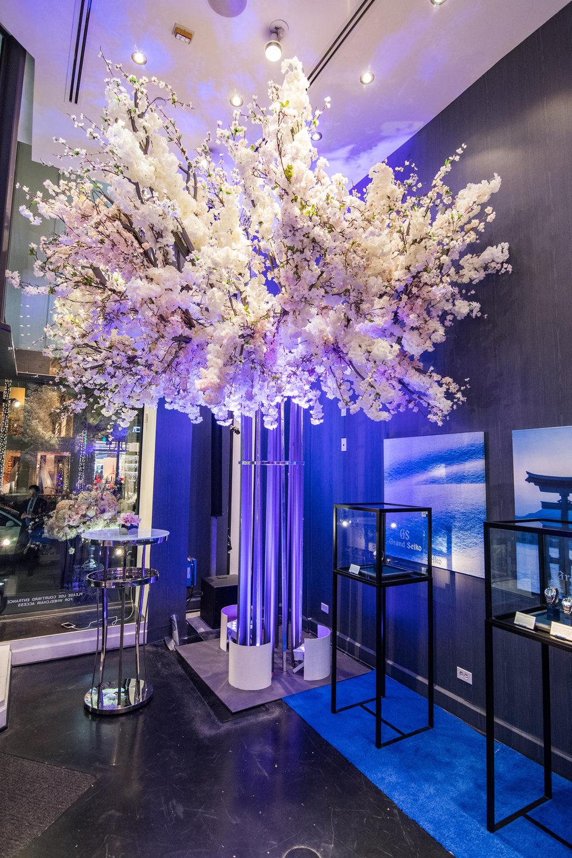 Grand Seiko Boutique Grand Affair Beverly Hills Store Opening Cherry Blossom Floral Arrangment.jpg