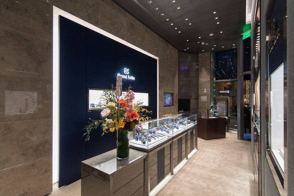 Grand Seiko Boutique Grand Affair Beverly Hills Store Opening Main Showroom with Service Desk in Background.jpg