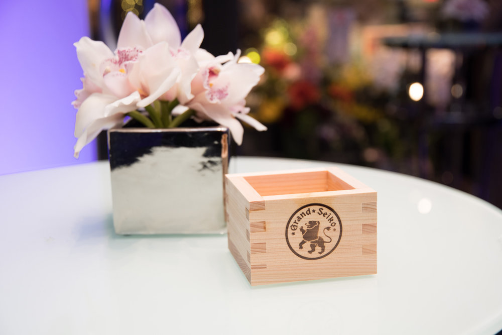 Grand Seiko Boutique Grand Affair Beverly Hills Store Opening Pretty Florals and Sake Box.jpg