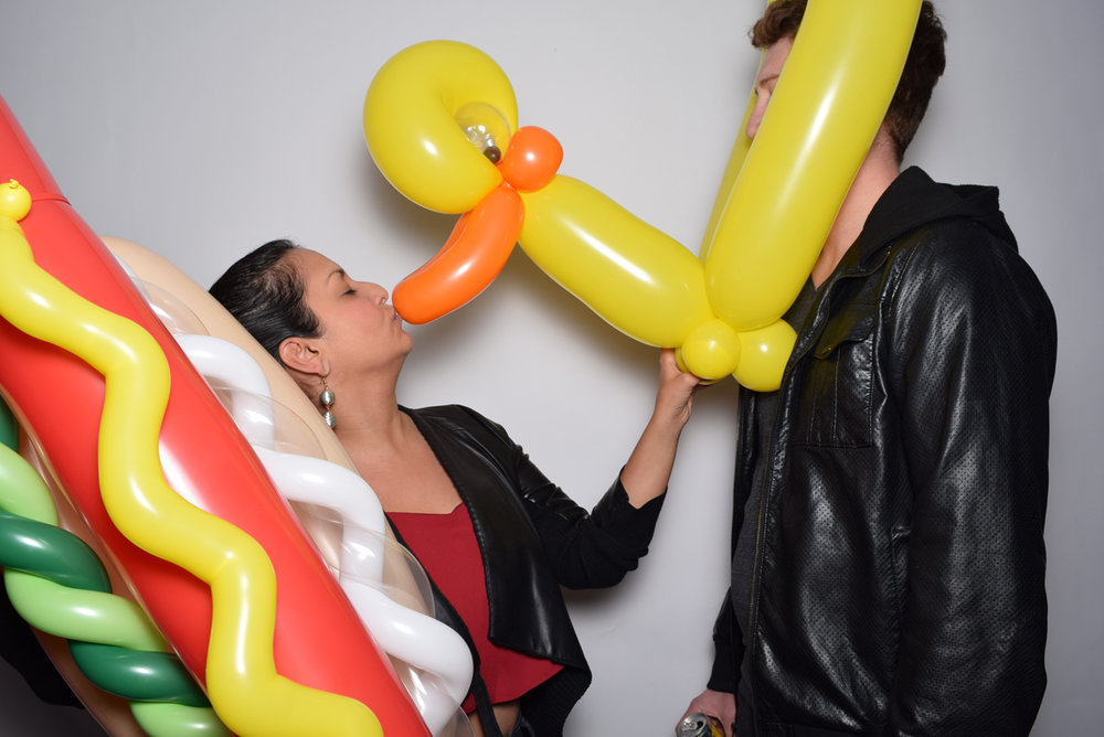 Rockin Out with Dave Rocco LA Birthday Party Photo Booth hot dog and duck.jpg