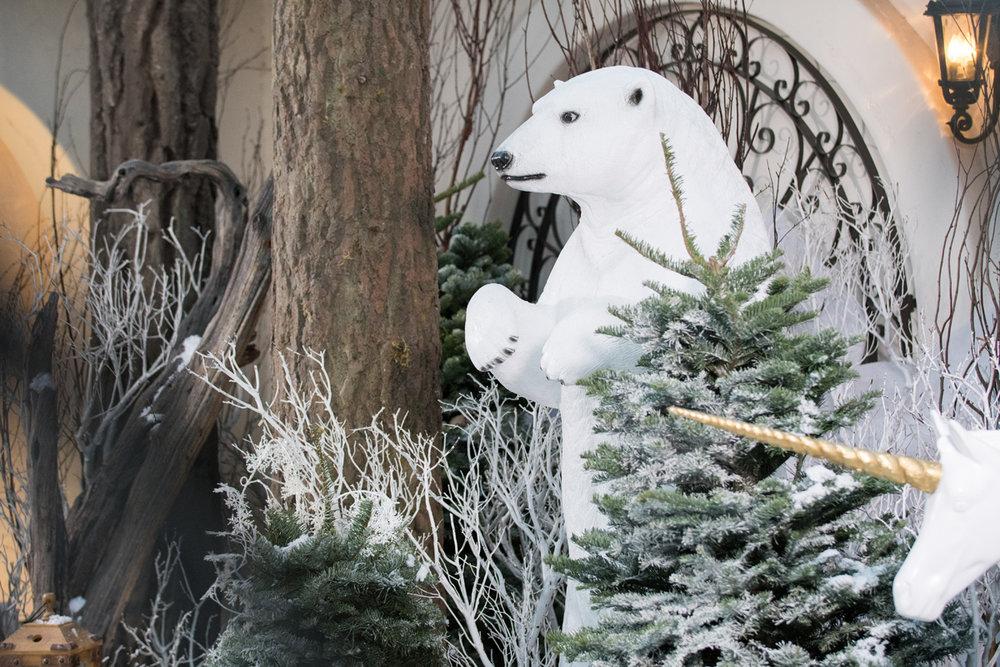 Narnia Inspired Opulent Winter Wonderland Party polar bear decor.jpg