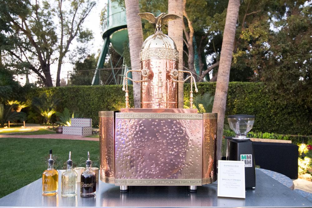 Narnia Inspired Opulent Winter Wonderland Party copper espresso maker.jpg