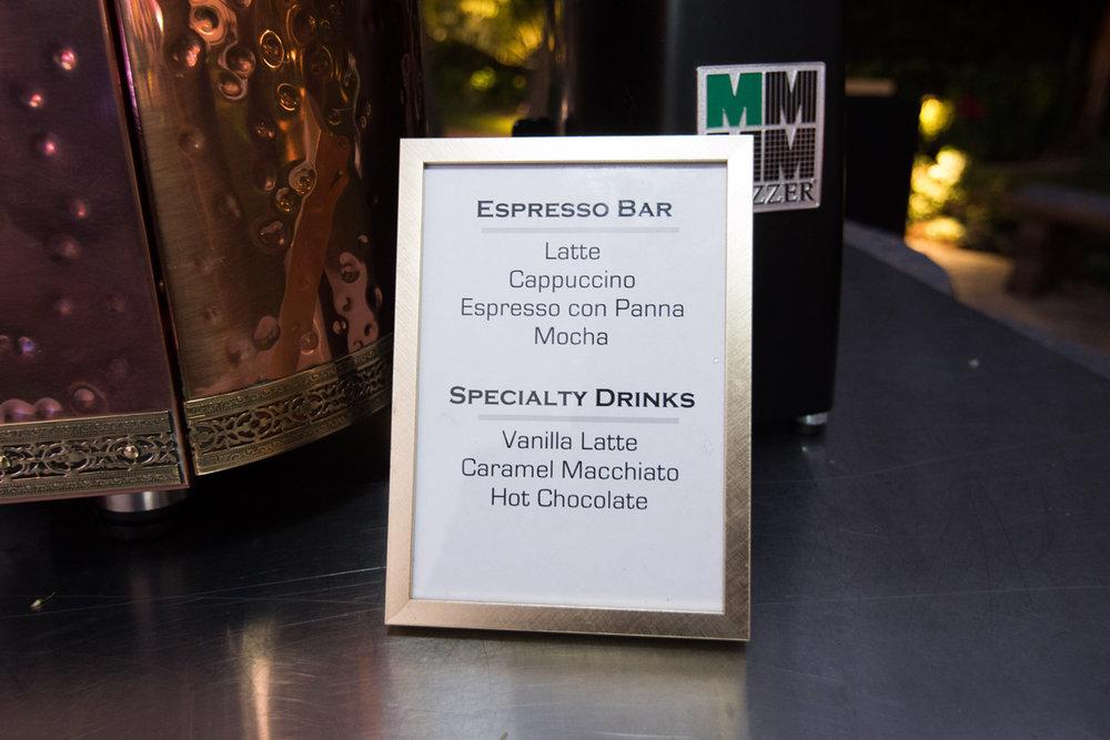 Narnia Inspired Opulent Winter Wonderland Party espresso menu.jpg