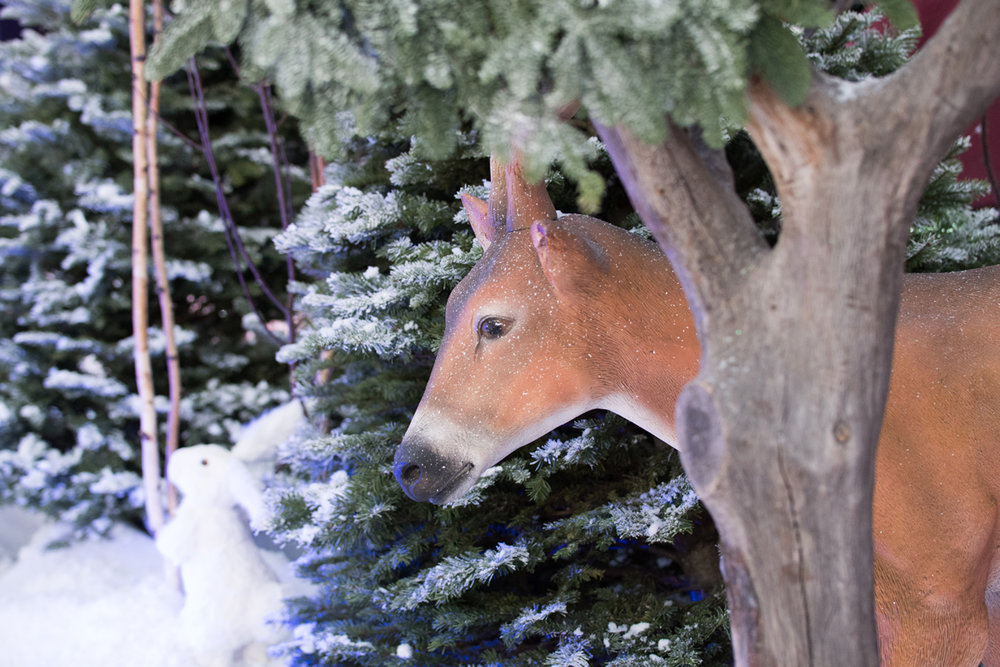 Narnia Inspired Opulent Winter Wonderland Party deer in the snow.jpg