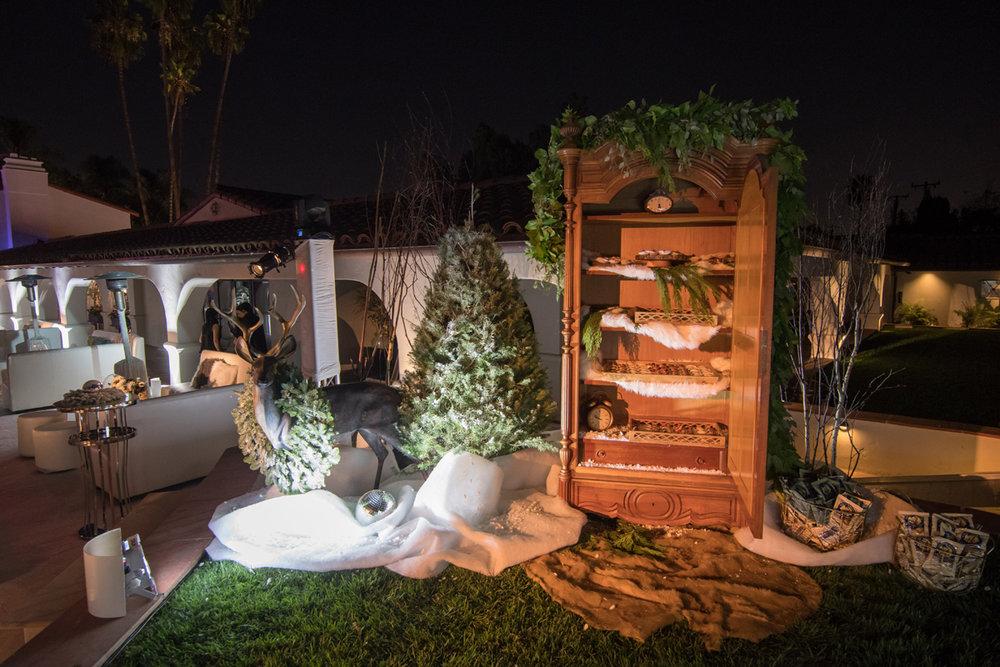 Narnia Inspired Opulent Winter Wonderland Party wardrobe filled with treats.jpg