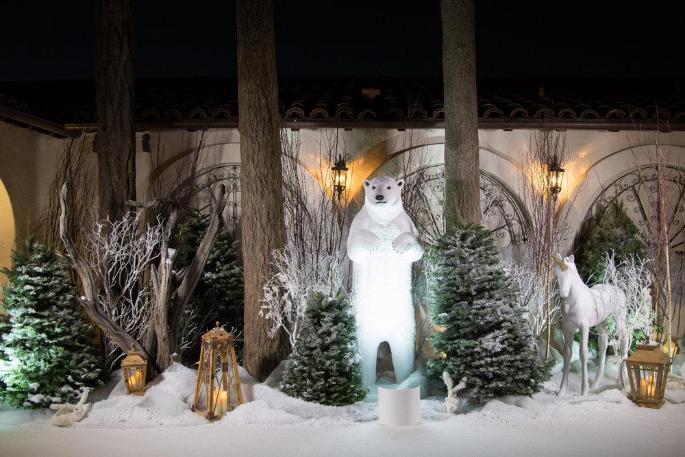 Narnia Inspired Opulent Winter Wonderland Party polar bear decor photo area.jpg