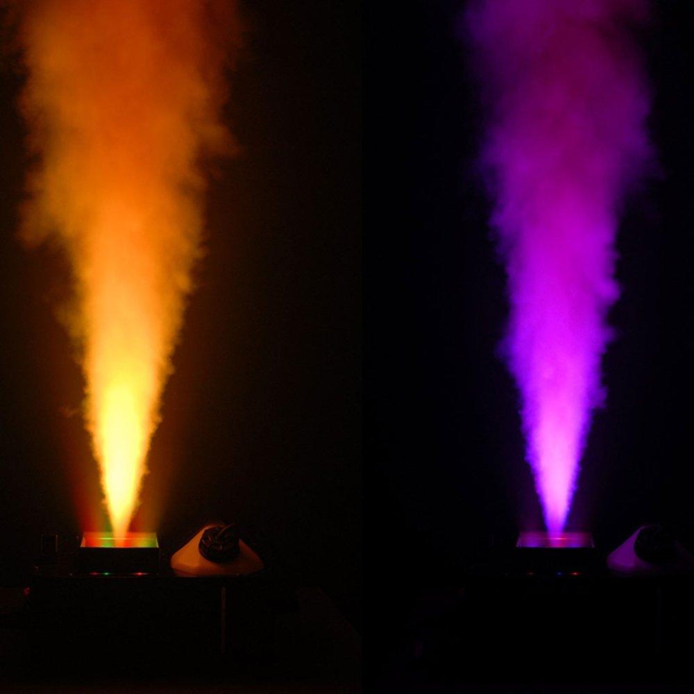 Geyser Penta-Color (RGBA+UV) LEDs creates a dynamic and safe pyrotechnic-like effect
