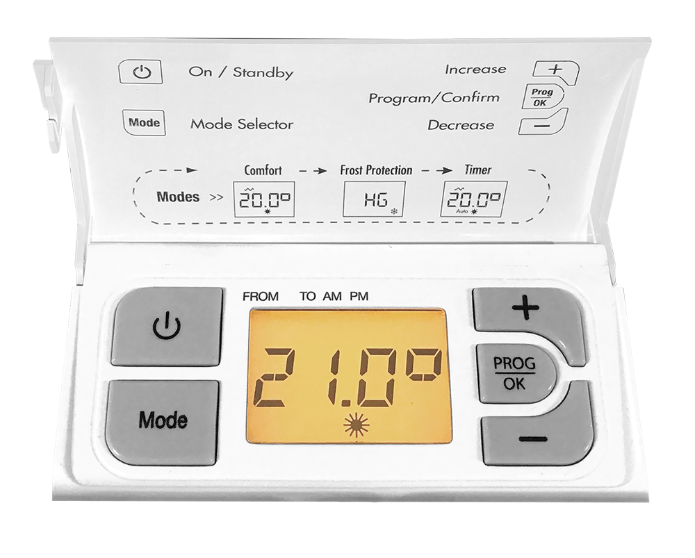 Noirot Integrated timer - keeping you warm