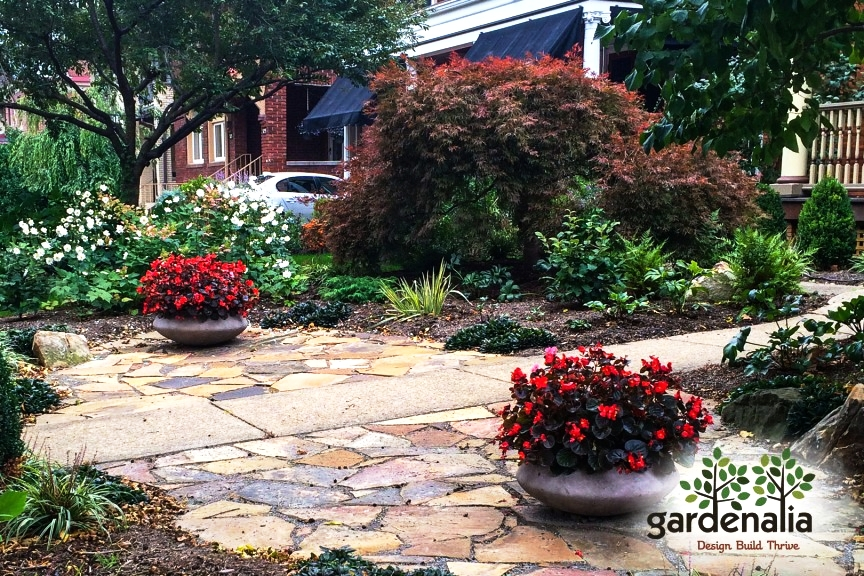 Garden Elements & Hardscape Features - A well-designed landscape incorporates balance between hardscaping (such as pathways, walls,and patios), and Softscaping or vegetation. Learn how the right hardscape design can accentuate your outdoor living space.