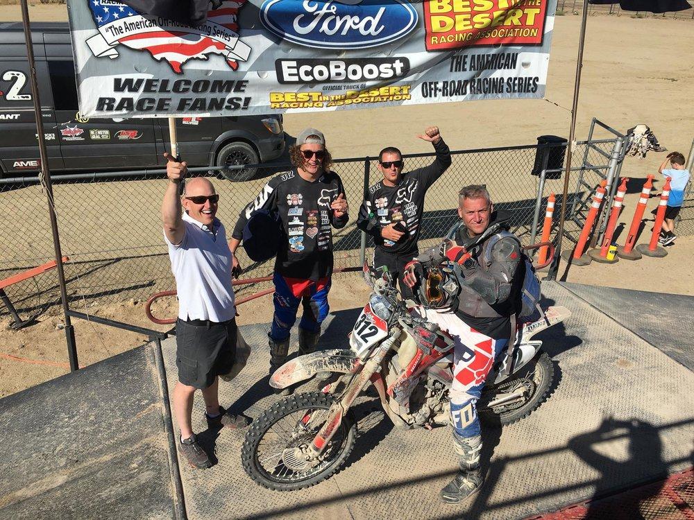 Customer Greg after the Vegas to Reno enduro race!