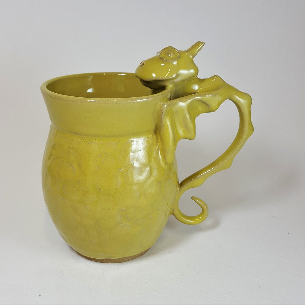 SPECIAL EDITION 20 oz. Lime Dragon Mug with Scale Detail - $80