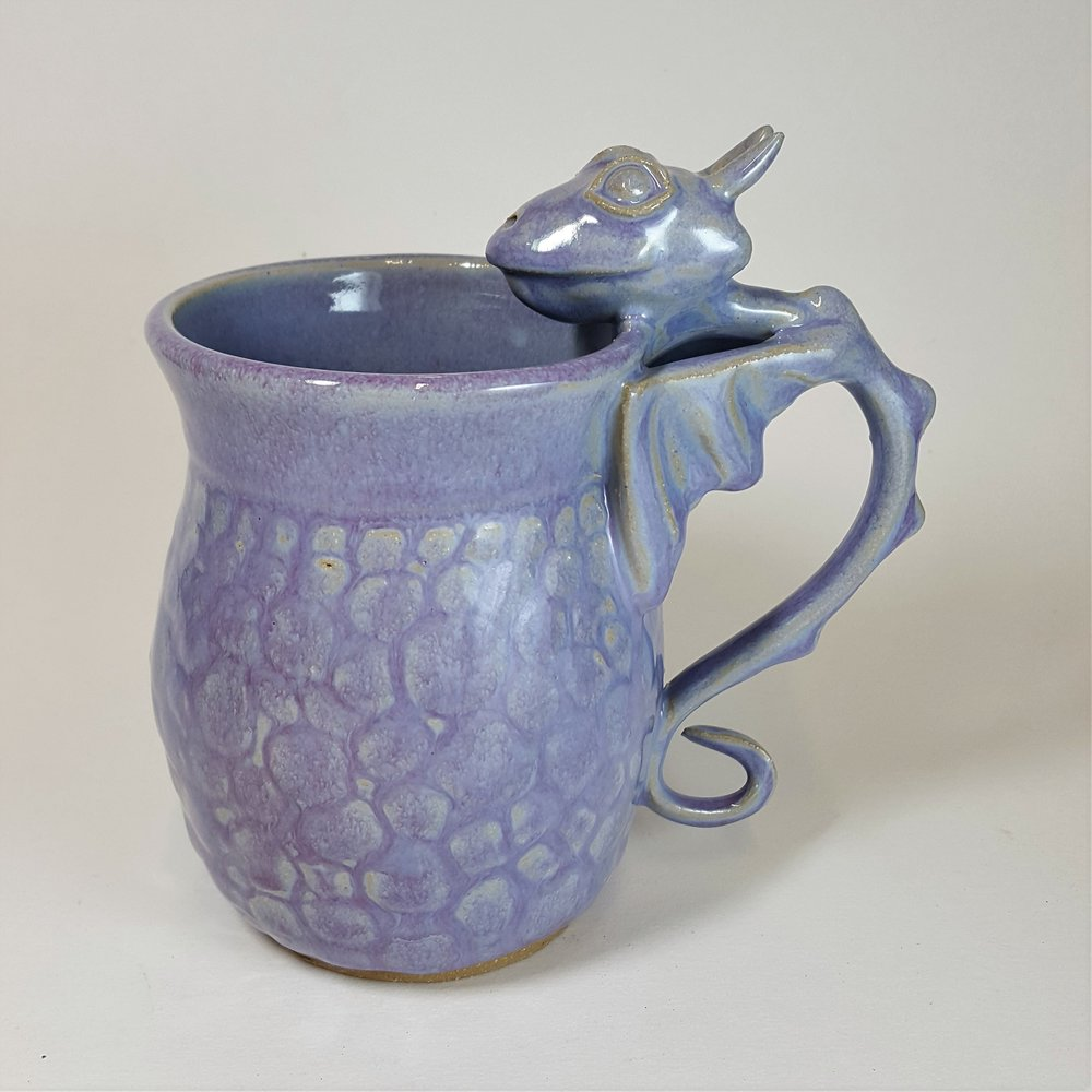 SPECIAL EDITION 20 oz. Purple Dragon Mug with Scale Detail - $80
