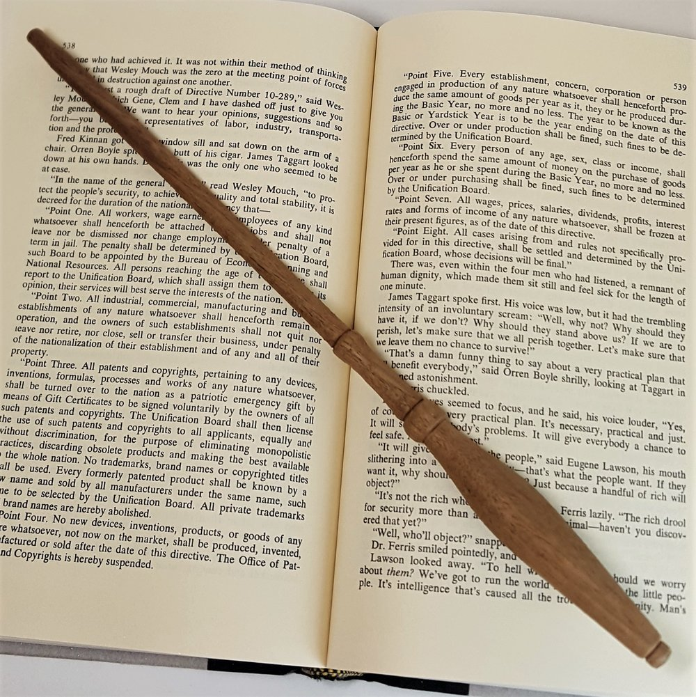 "Hand-carved ""Highest Marks Wand"" - $25"