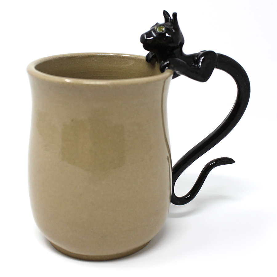 15 oz. Black Cat Mug - $70