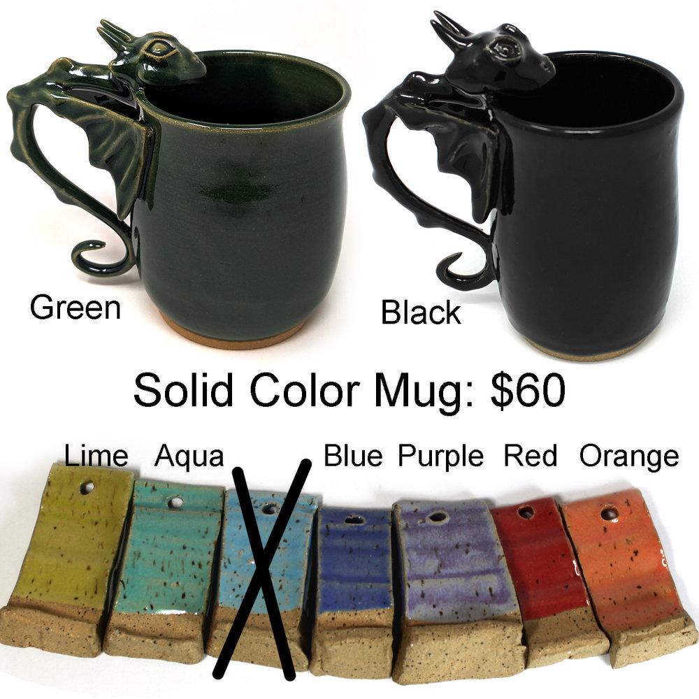 solid color mug